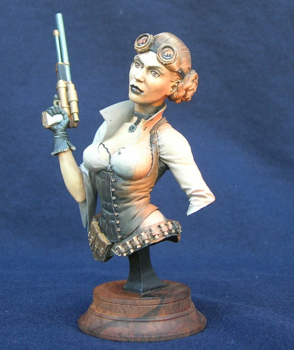 Steampunk Leia WIP 2 - left